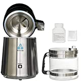 DC HOUSE 1 Gallon Countertop Water Distiller Stainless Steel Distiller with Glass Filter and Most Effective...