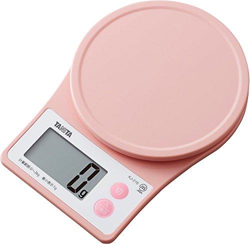 タニタ キッチンスケール はかり 料理 デジタル 2kg 1g単位 ピンク KJ-216 PK すぐにピタッとはかれる