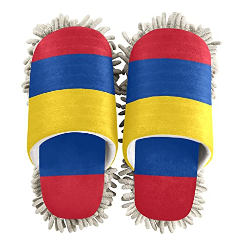 Zapatillas de limpieza unisex con bandera de Colombia
