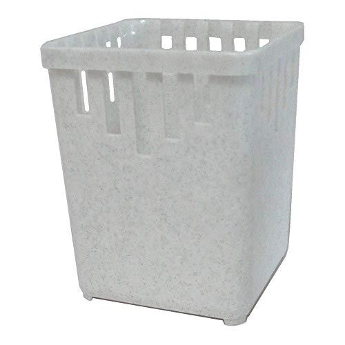 Bestecktrockner 1-teilig granit-weiß Maße ca. 10 x 10 x 13,5 cm Besteckkorb Besteckkörbchen zum Trocknen von Besteck