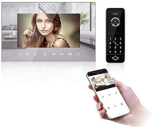 Inalámbrico IP Video Doorphone Intercom System - Tuya App Smart Home con 7 LCD Monitor Towebell Kit con IP Impermeable 65 IR Cámara de visión Nocturna Incomparable
