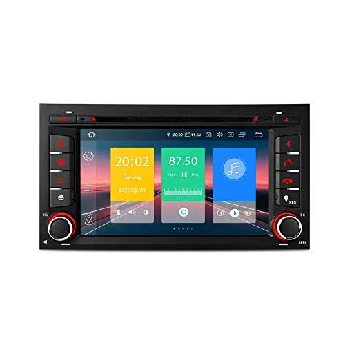 JIBO 7 Pulgadas Android 10.0 Auto Estéreo DIN único Navegacion GPS Cabeza Unidad HD Digital Capacitivo Tocar Pantalla Bluetooth5.0 WiFi DVR OBD Pantalla Reflejando Video Receptor para Seat Leo