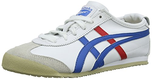 Onitsuka Tiger Mexico 66, Zapatillas Unisex Adulto, Blanco (White/Blue 146), 45 EU