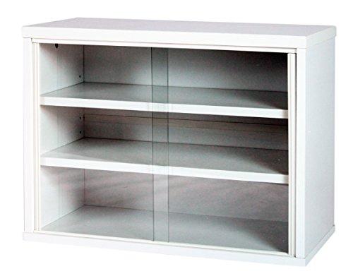 サンニード ミニ食器棚 IS-6045 幅60cm 奥行30cm 高さ45cm (ホワイト/ホワイト)