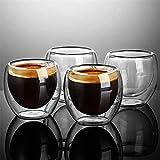 Resistente al calor doble pared taza de vidrio cerveza Espresso taza de café Set hecho a mano taza de cerveza taza de té vidrio whisky tazas de vaso de vidrio