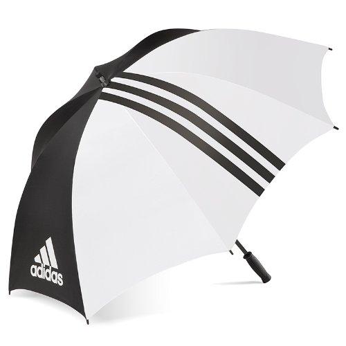 adidas Unisex Regenschirm, ca. 152 cm (Einheitsgröße) (Schwarz/Weiß)