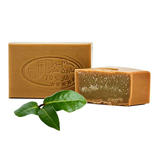 Carenesse® Original Aleppo LUXUS Lorbeeröl & Olivenöl Seife 70% Lorbeeröl 30% Olivenöl Haarwaschseife Duschseife veganes Naturprodukt 125g.