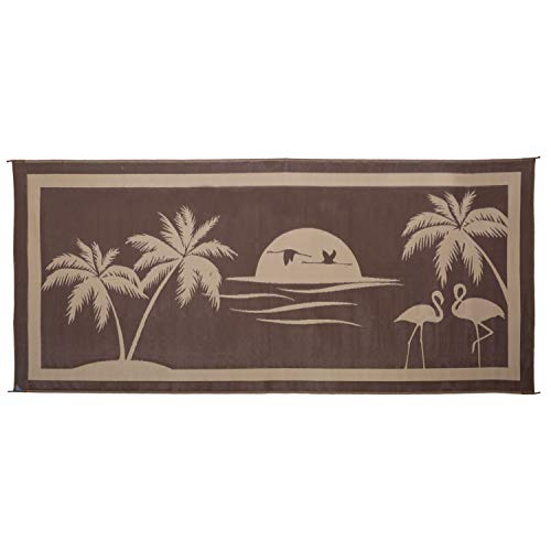 Stylish Camping TO8187 Brown/Beige 8' x 18' Tropical Oasis Mat, 1 Pack