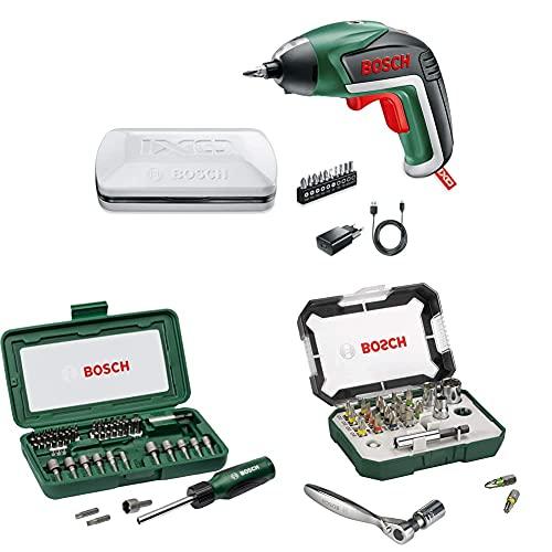 06039A8000 - AKKU-SCHRAUBER IX + Bosch 46-Piece Screwdriver Set