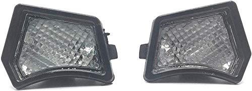 JHZQK1 Paar Vordertürspiegel Pfützenlicht Innenbeleuchtung Lampe Linse L R Fit für Volvo S40 S60 S80 V50 V70 C30 XC70 XC90 2005 31217838/312 (Farbe: Schwarz)