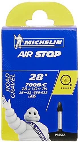Michelin Airstop- Camera d'aria per bicicletta (700 c, 25-32 mm con valvola francese 40 mm)