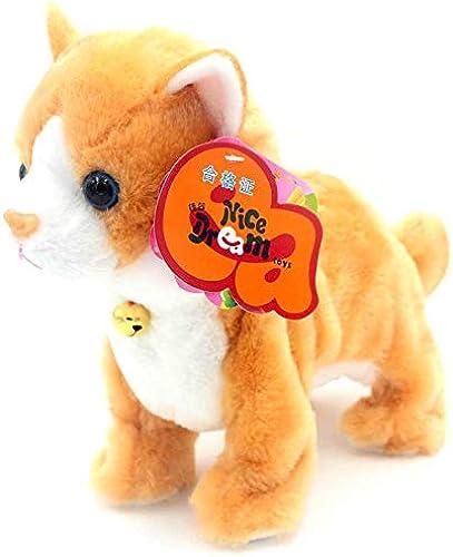 barato en línea Juguete electronicoControl De Sonido Sonido Sonido Juguete del Gato Electrónico del Gato Interactivo De Peluche Suave del Gato del Animal Doméstico  hasta 60% de descuento