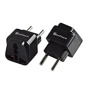 Neuftech® 2x Universal Reisestecker Adapter Travel Plug EU Stecker europa Deutschland auf UK USA,China, Kanada, Japan,Thailand, Mexiko, Philippinen usw
