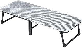Mnjin Lit Pliable Portable lit Pliant Matelas en Aluminium Simple Pliable en Surface inclinable Matelas Confort lit léger ...