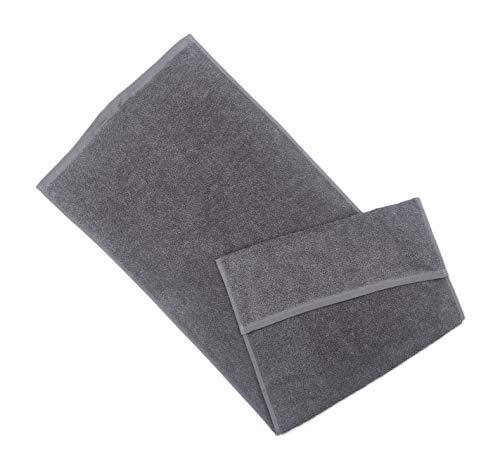 søstre & brødre - Asciugamano sportivo da palestra, 45 x 100 cm, 100% spugna di cotone, conforme allo standard Öko-Tex - Made in EU - spessore extra 450 g/m² con pratico cappuccio
