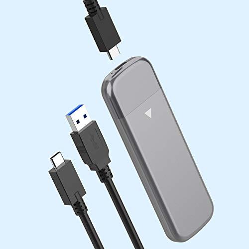 Rocketek Carcasa M.2 NVMe SSD, USB C 3.1 Gen2 10Gbps Carcasa