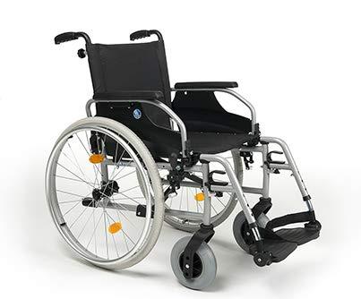 Zusammenfaltbarer Leichtgewichtrollstuhl | Sitzbreiten 38 cm - 52 cm| Maximale Belastbarkeit: 130 kg | Vermeiren D200 (Sitzbreite 44cm)