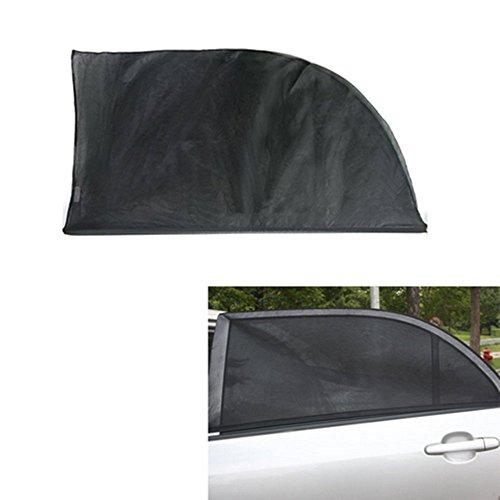 Gaoominy Voiture R/étractable avec Rideau Pare-Brise Avant UV Parasol Pare-Soleil Automatique Nette de Couverture Noir