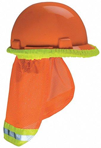 MSA 10098031 Hard Hat Protector Sunshade for All MSA Hard Hat and Cap, Orange Color