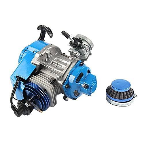 Motore di raffreddamento ad aria a 2 tempi 49cc con iridium c7 candela candela per carbutetor per due tempi (Color : A)
