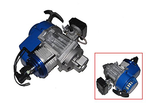 Big Bore 6 Tuning Motor Pocketbike Dirtbike Blau + 15 / 19 mm Vergaser Sport + Tuning Luftfilter