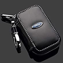 Leather Car Key Case Remote Control package Auto Key Chains(Ford)