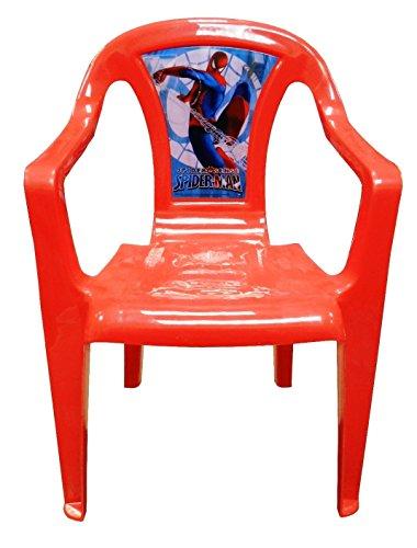 Global Industry–82483–Einrichtung und Dekoration–Stuhl aus Kunststoff Spiderman