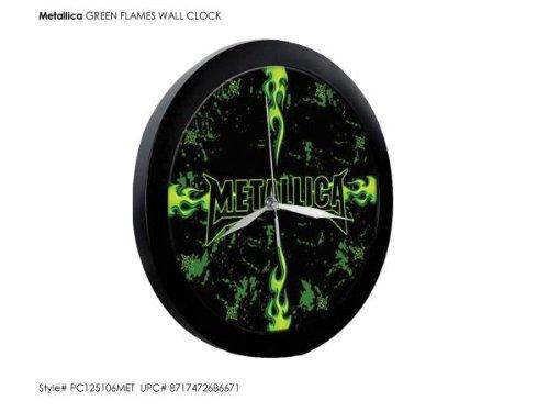 Metallica - Green Flames (Wanduhr)