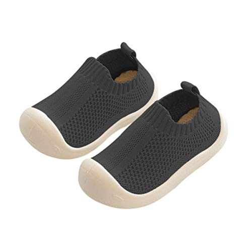 DEBAIJIA Zapatos para niños pequeños 1-5T Baby First-Walking Kid Deporte Suela Suave Malla Antideslizante Entrenador Transpirable 17/18 EU Negro(Tamaño de Etiqueta 17)