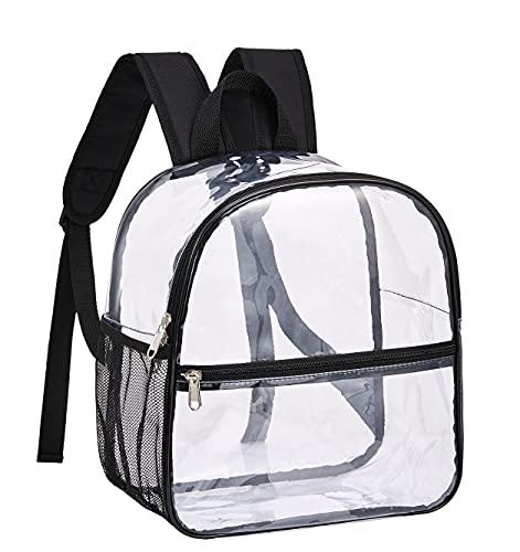 GreenPine Mini mochila transparente aprobada por el estadio, resistente al frío, a prueba de agua, mochila transparente para trabajo, viajes de seguridad, concierto y evento deportivo