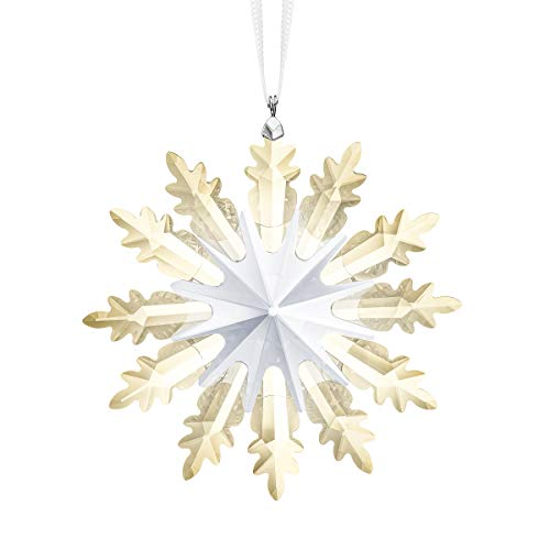 Swarovski Star Ornament, Winter Sparkle Collection, Swarovski Crystal Christmas Tree and Home Ornament, with a Snowflake Design