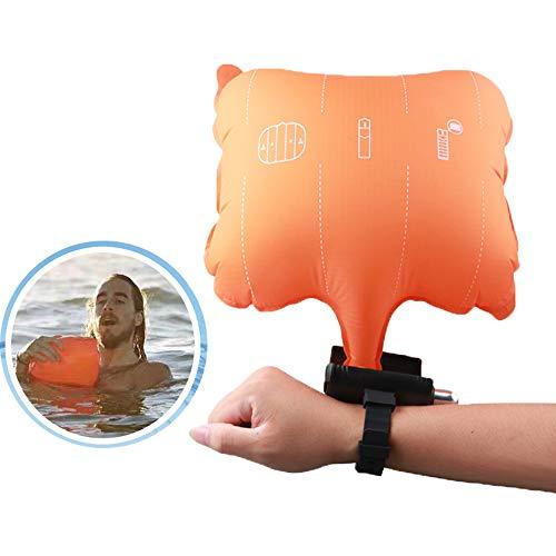 Dispositivo de flotación de emergencia natación Airbag anti-ahogamiento rescate pulsera pulsera de Auto-Ayuda de Emergencia con el compás 4 Cilindro de gas reutilizable apta para el baño Surf Buceo