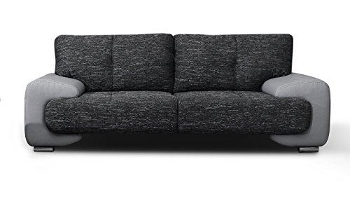 Canapé fixe 3 places Gris Tissu