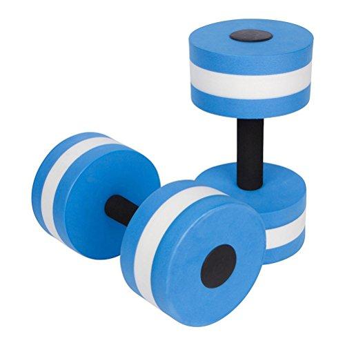 WINOMO Fitness Water Dumbbells Aqua Dumbbell EVA Foam Water Fitness Equipment 2PCS (Blue)