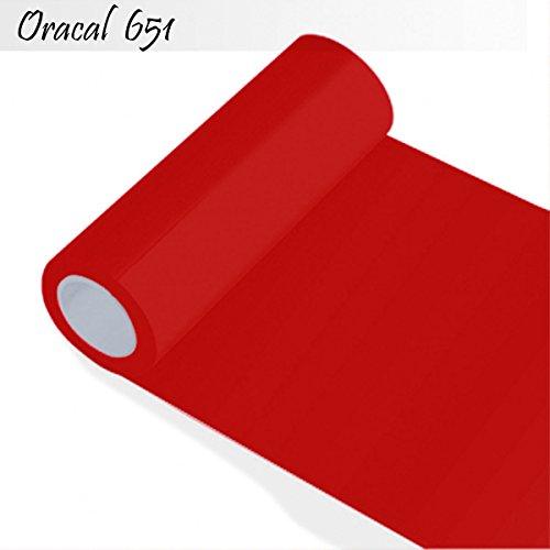 INDIGOS Oracal 651 Orafol glänzend, für Küchenschränke und Dekoration, Autobeschriftung, Schutzfolie Folie 5 m, Breite 63 cm, Farbe 31, rot, ORACAL651-1-5mx63-31