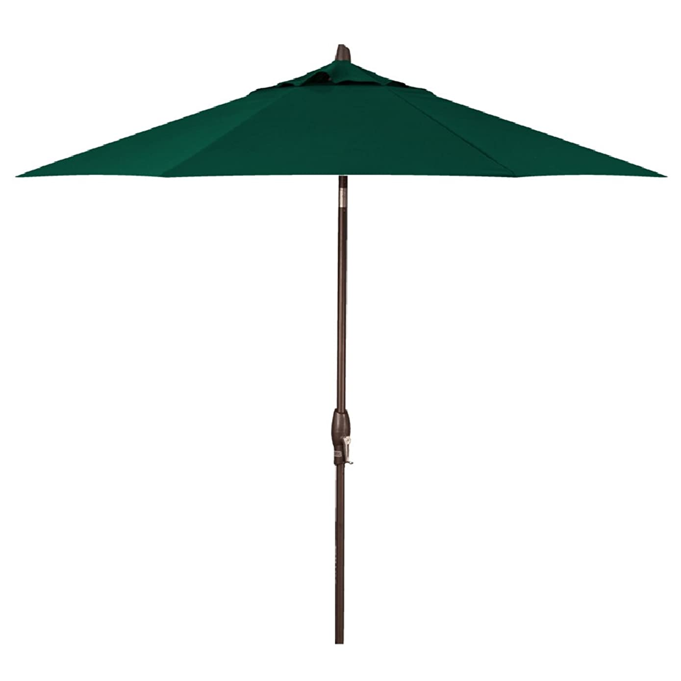 Treasure Garden 9-Foot (Model 810) Deluxe Auto-Tilt Market Umbrella with Bronze Frame and Sunbrella Fabric: Forest Green (Includes Extended Frame Warrantee)