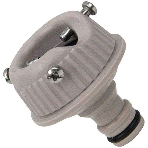 セフティー3 コイルホース用蛇口ニップル 適合ホース内径8mm ベージュ