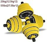 Pesas con mancuernas Tnp 1 par pesas los hombres y las mujeres Ejercicio armas aparatos de ejercicios con mancuernas ajustables Peso Barra de doble finalidad del Traje Inicio gimnasio de pesas (Tamaño