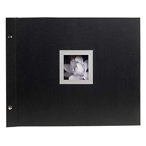 Exacompta 16944E Fotoalbum Ceremony (40 Seiten, 37 x 29 cm, ideal für wichtige Anlässen, Pergamin-Schutzblätter) schwarz