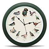 Mark Feldstein Singing Wild Game Birds of North America Hunting Wall Sound Clock, 13 Inch