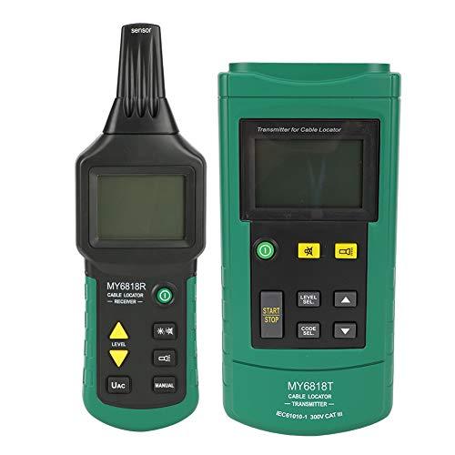 Localizador de cables subterráneos, localizador de rastreadores de cables de CA/CC Probador de cables de teléfono de red ajustable manual o automáticamente.