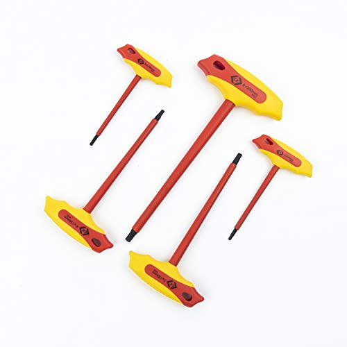C.K T4422 Insulated T-Handle Hex Key Set, 5-pcs, Set of 5 Sizes