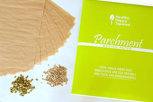 12 x 16 Inch (220 Sheets) Unbleached Parchment Baking Paper Sheets by HealthyHappySquared