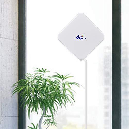 Aigital 4G Antenne TS9 LTE Antenne 35dBi Dual Mimo Netzwerk Antenne Signalverstärker für 3G/4G Router Vodafone Huawei E5377 E160 E160E E173 E1820 E3613 E353 E355-2m Kabel