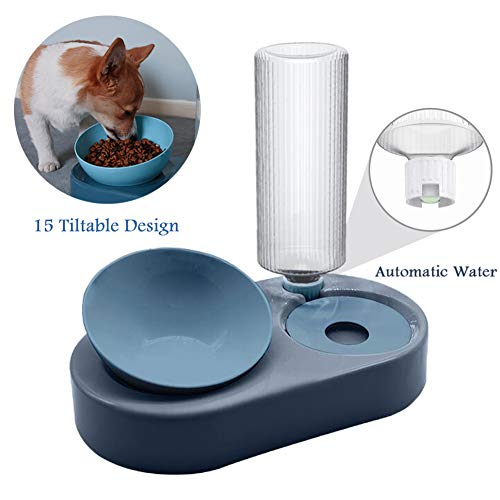 Tazones para gatos con soporte Tazón para agua para mascotas y juego de tazones para comida Tazones para comida para gatos para perros con dispensador automático de agua para perros Gatos