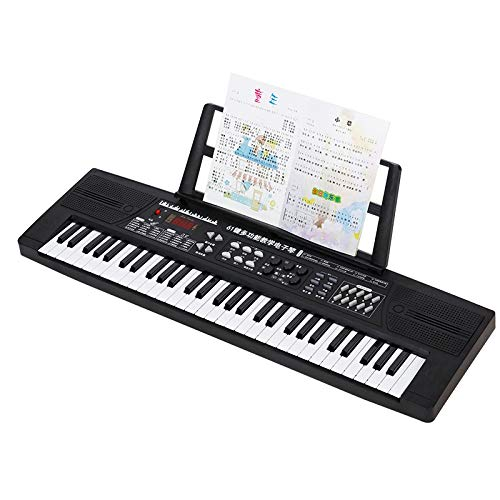 Check Out This XINGXIANYIGOU Electronic Piano Toy, 61-Key Smart Keyboard with Power Cord Microphone,...