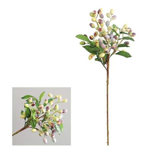 CMEI Fiori artificiali 2 Pezzi Rami di Ulivo Fiori Artificiali per La Nuova Casa Casa Festa di Nozze Decorazione Flores Bacche di Olivo Piante Finte R