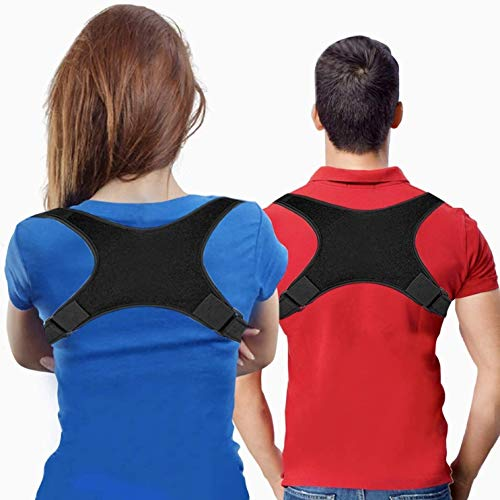 Posture Corrector for Men and Women, USA Designed - Adjustable Upper Back Brace for Clavicle Support and Providing Pain Relief from Neck, Posture Support - Back Brace - Kyphosis Brace (Universal)