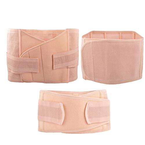 Xegood 3 en 1 Fajas Post Parto Efectivas Cinturon Proteccion Transpirable Lumbar Cinturon para Hacer Ejercicio Postpartum Support Belt Vientre/Barriga/Cintura