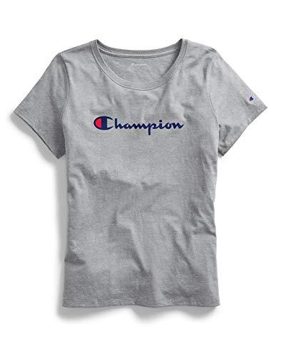 Champion Classic Camiseta, Negro, XXL para Mujer